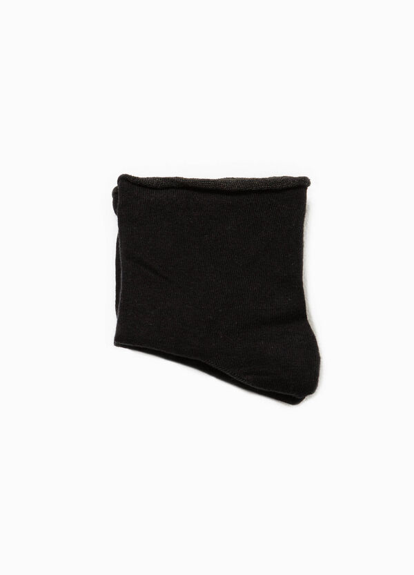 Solid colour stretch cotton short socks | OVS