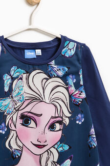 Maxi Frozen print cotton T-shirt, Blue, hi-res