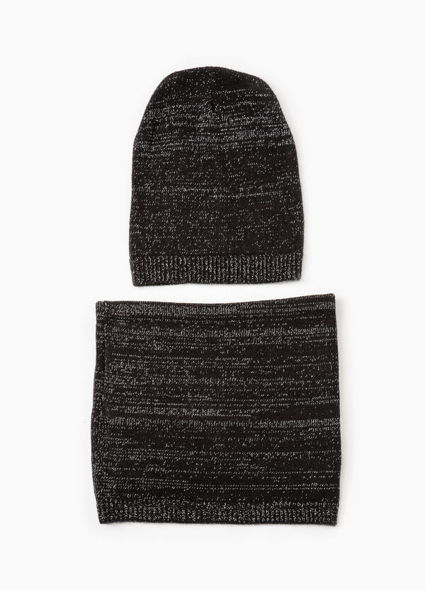 Set consisting of beanie cap and neck warmer | OVS