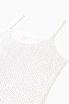 Two-pack patterned stretch under tops, White/Black, hi-res