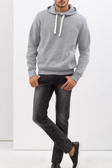 Sweatshirt with contrasting drawstring, Light Grey, hi-res