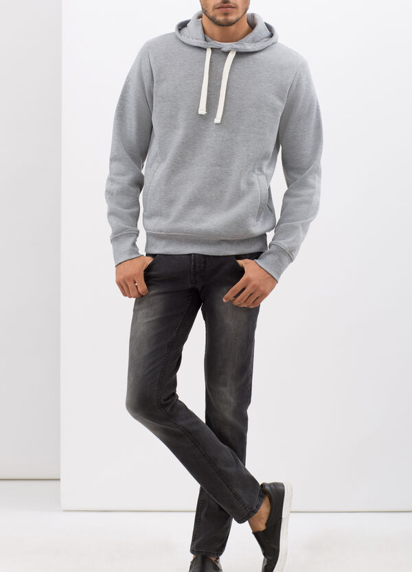 Sweatshirt with contrasting drawstring | OVS