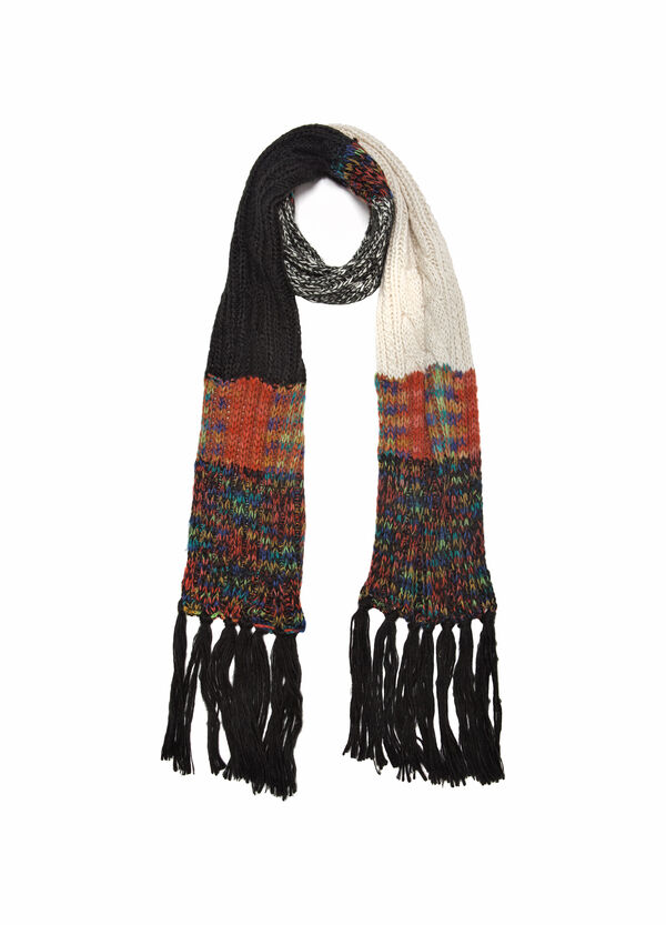 Patterned knitted scarf | OVS