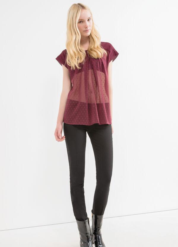 Semi-sheer blouse with raglan sleeves | OVS