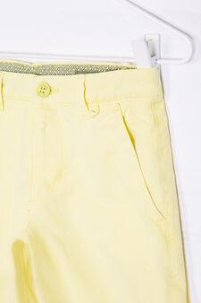 Solid colour 100% cotton Bermuda shorts, Lime Green, hi-res