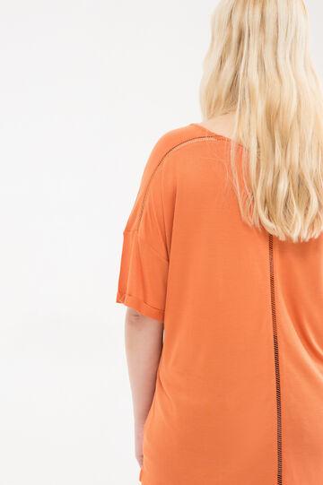 Curvy 100% viscose T-shirt, Dark Orange, hi-res