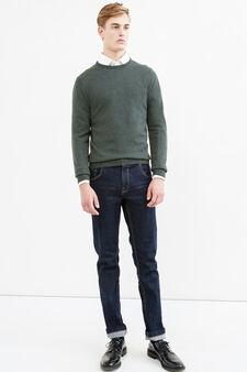 Pullover cashmere e seta tinta unita, Verde, hi-res