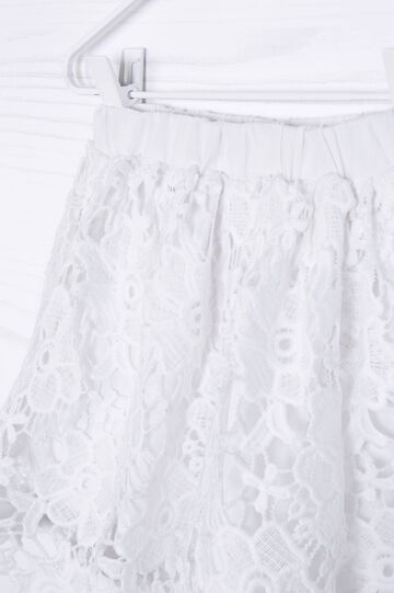 Solid colour embroidered skirt