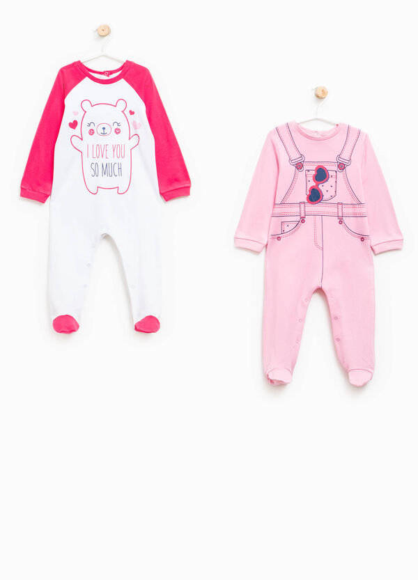 Set of two cotton pyjama onesies | OVS