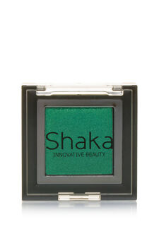 Compact eyeshadow with metal effect, Green, hi-res