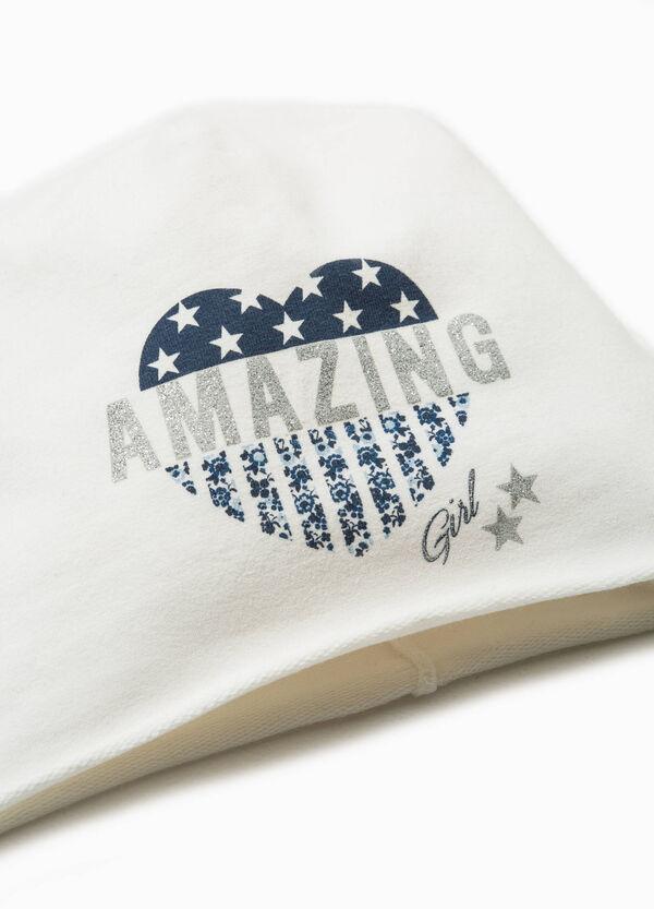 Printed beanie cap in cotton   OVS