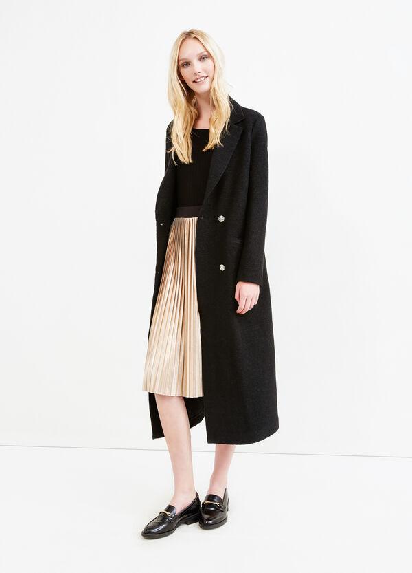 Pleated longuette skirt with elasticated waist band   OVS