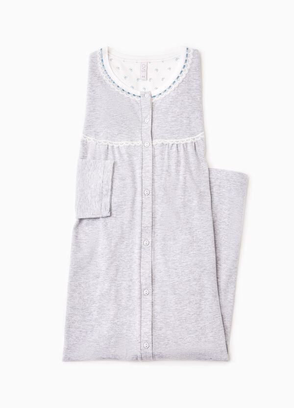 Cotton nightshirt with lace | OVS