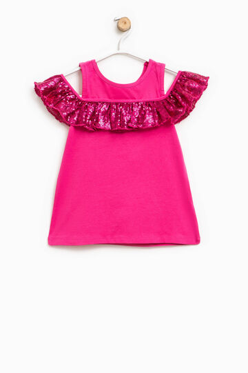 Top with sequin frill