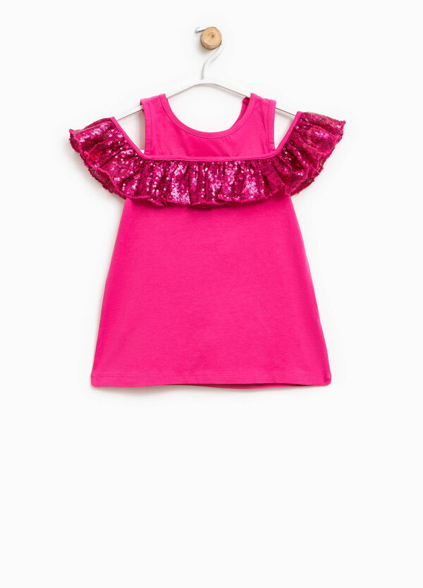 Top with sequin frill | OVS