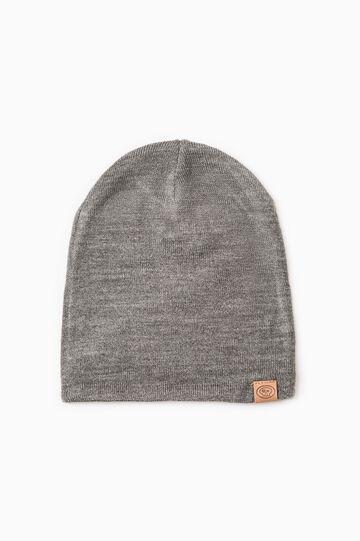 Reversible beanie cap, Grey/Blue, hi-res