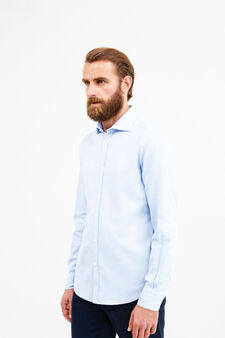 Slim fit cotton casual Rumford shirt, Soft Blue, hi-res