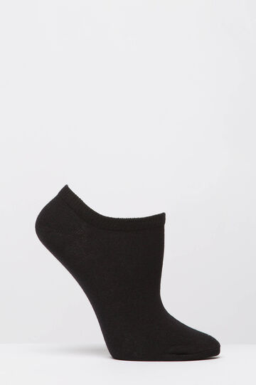 Two-pack short cotton socks, Black, hi-res