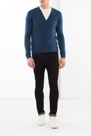 Rumford Cotton cardigan, Blue, hi-res