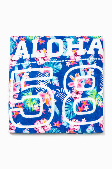Beach towel with floral pattern