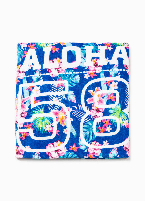 Beach towel with floral pattern | OVS