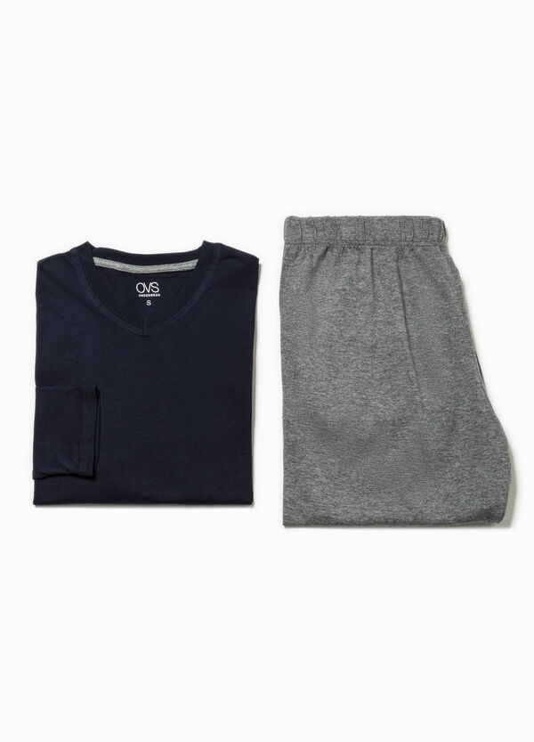 100% cotton V-neck pyjamas | OVS