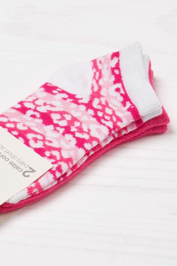 Set due paia di calze stretch, Rosa fuxia, hi-res