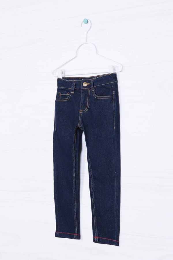 Solid colour stretch slim-fit jeans | OVS