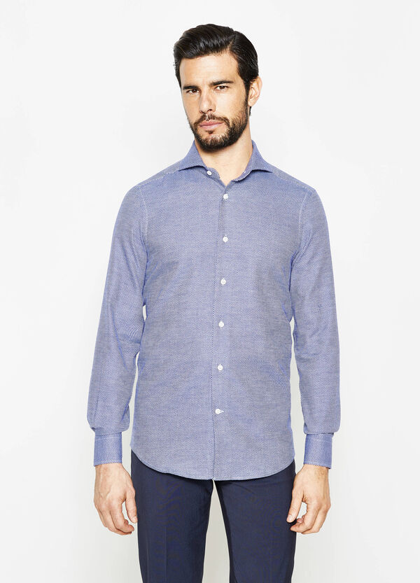 Slim-fit diamond-patterned formal shirt | OVS