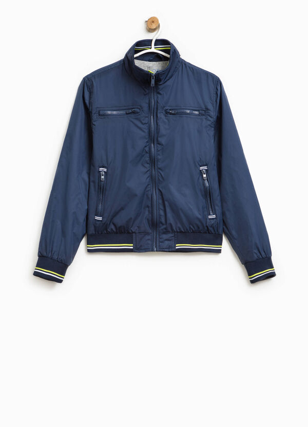 Jacket with striped ribbing | OVS