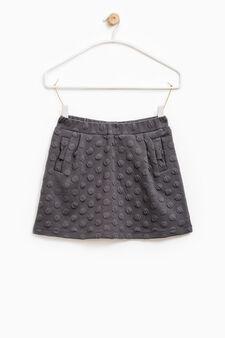 Raised polka dot weave skirt, Slate Grey, hi-res