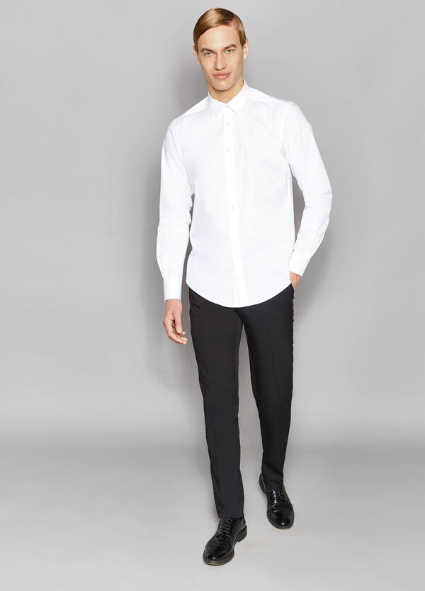 Slim-fit formal shirt in stretch cotton | OVS