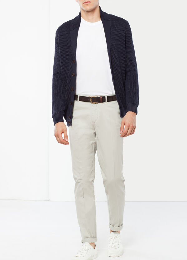 Cotton trousers with crease   OVS