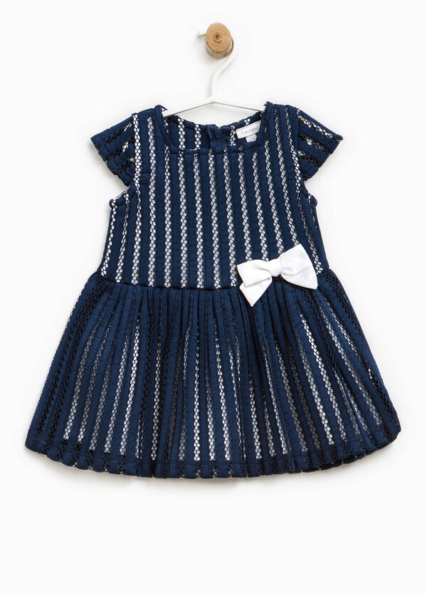 Openwork dress with bow | OVS