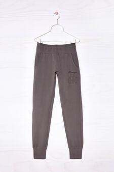 Stretch cotton joggers, Grey, hi-res