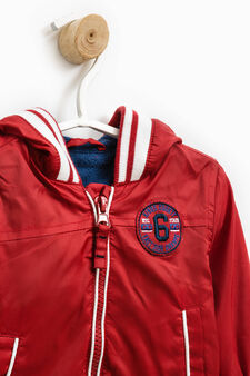 Jacket with contrasting trim, Blue/Red, hi-res
