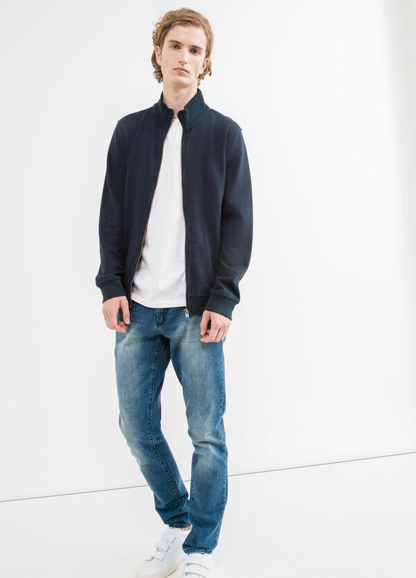 G&H cotton sweatshirt with high neck and zip | OVS