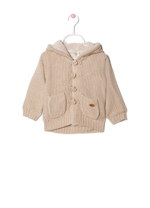 Knitted cardigan with hood | OVS
