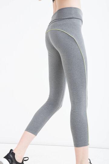 Stretch gym leggings, Grey Marl, hi-res