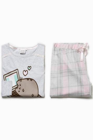 Tartan pyjamas with print