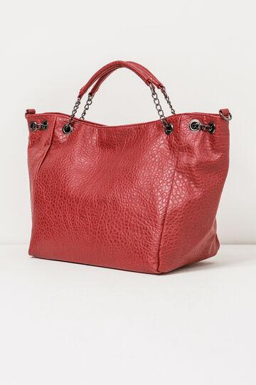 Handbag with chain handles, Red, hi-res