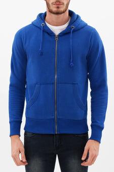 Cotton blend hoodie., Cornflower Blue, hi-res