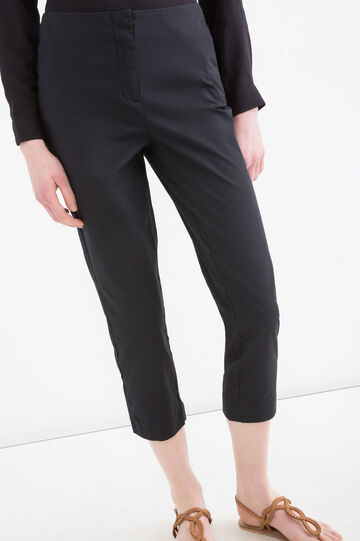 Pantaloni pescatora stretch, Nero, hi-res