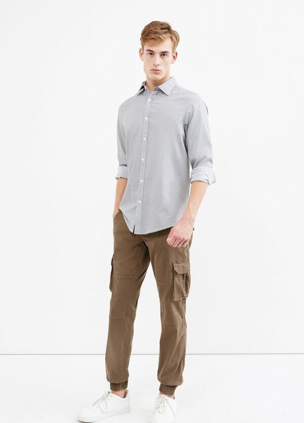 Slim-fit printed casual shirt | OVS