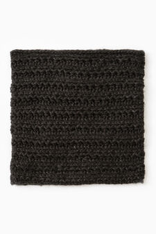Scaldacollo tricot con lurex, Nero, hi-res