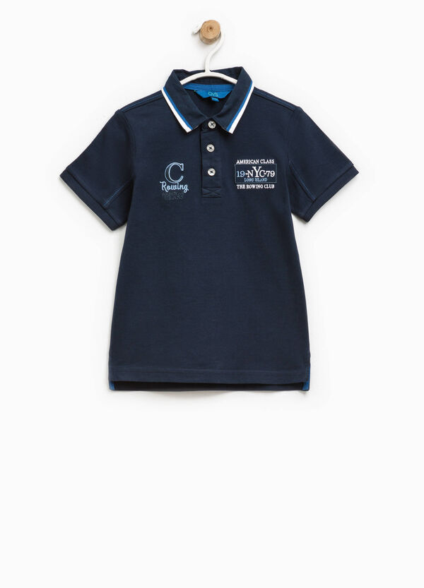 100% cotton polo shirt with embroidery | OVS