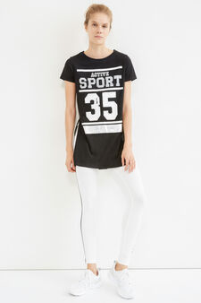 Long OVS Active Sport Training T-shirt, Black, hi-res