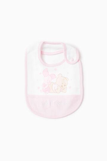 Winnie the Pooh cotton bib, White/Pink, hi-res
