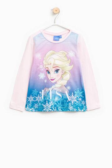 Camiseta en algodón elástico con estampado de Frozen