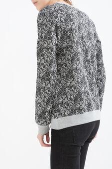 Batman cotton blend sweatshirt, Grey Marl, hi-res